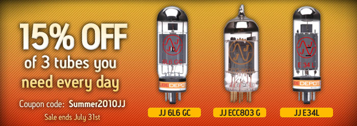 15% OFF of 3 tubes you need every day - Coupon code: Summer2010JJ - Sale ends July 31st