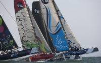 Extreme 40s racing on Day 4 of the Extreme Sailing Series Asia, Muscat.
